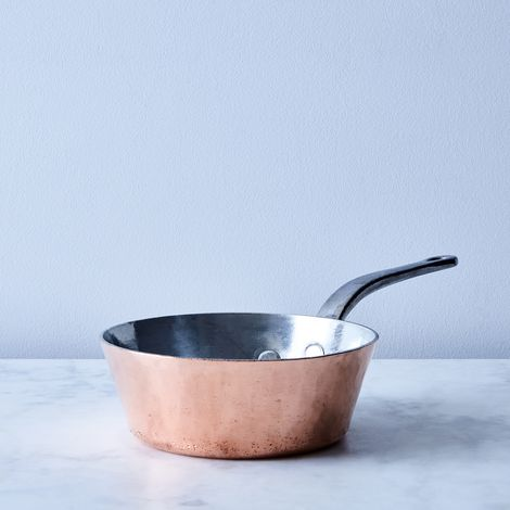 "Vintage Copper ""Dehillerin"" Splayed Pan, Late 19th Century"