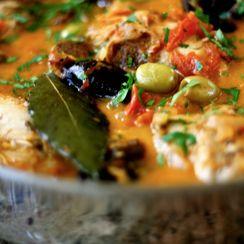 Braised Moroccan Style Chicken