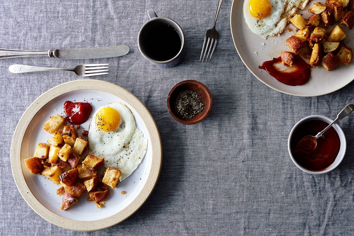 Onion-Glazed Baked Home Fries Recipe