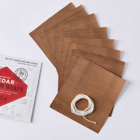 Cedar Grilling Wraps, Set of 16