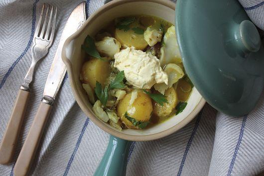Salt Cod & Saffron Stew