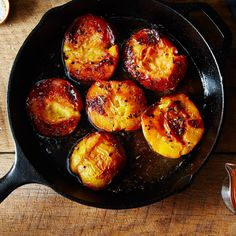 Rosemary-Roasted Peaches with Salted Caramel Sauce