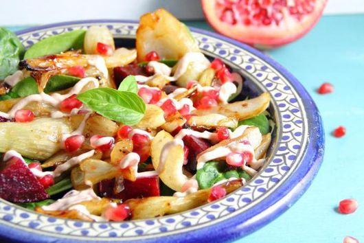 Warm Fennel & Pomegranate Salad