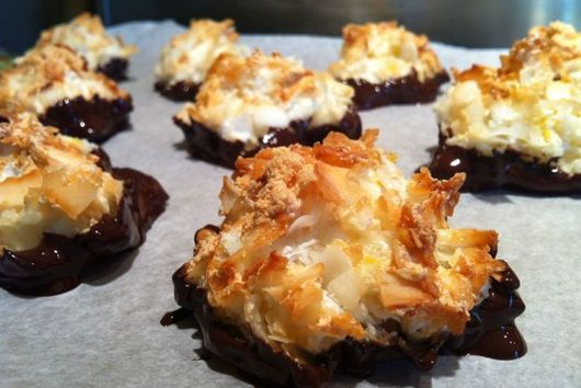 Chocolate Dipped Coconut Macaroons - gluten free, dairy free, and grain free