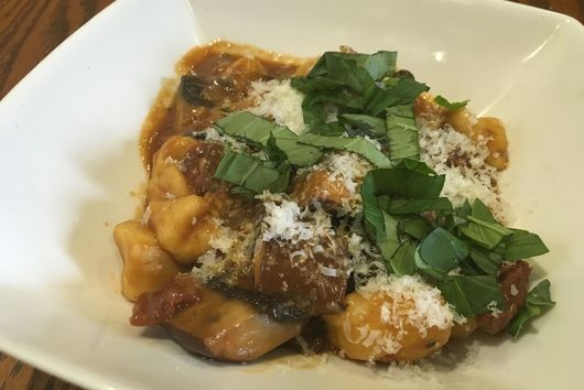Gnocchi with Tomato and Mushroom