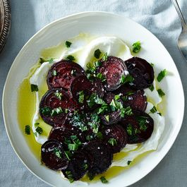 Yogurt and Beet Salad in the Persian Manner