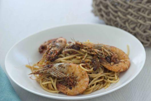 Prawn Pasta (pasta con i gamberoni) - Primo (First Course)