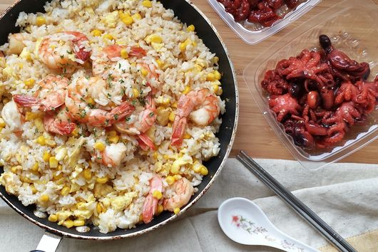 Shrimp Garlic Fried Rice