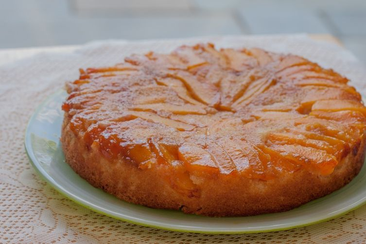 Peach and Ginger Upside Down Cake