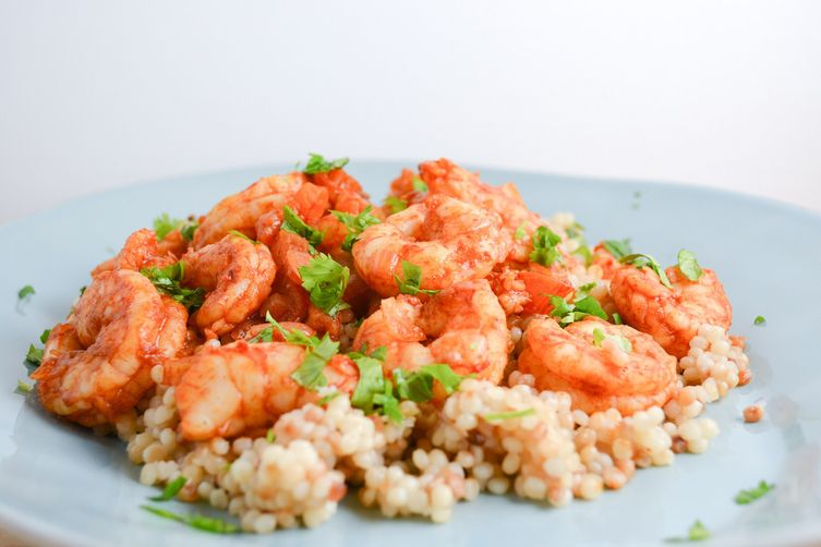 Middle Eastern Spiced Shrimp & Couscous