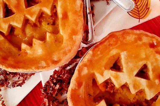 Sweet Potato, Sausage + Apple Pot Pies