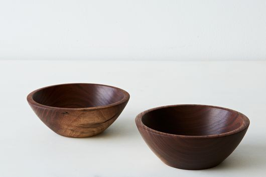 Hand-turned Small Walnut Bowls (Set of 2)