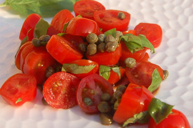 Tomato, Caper and Basil Salad