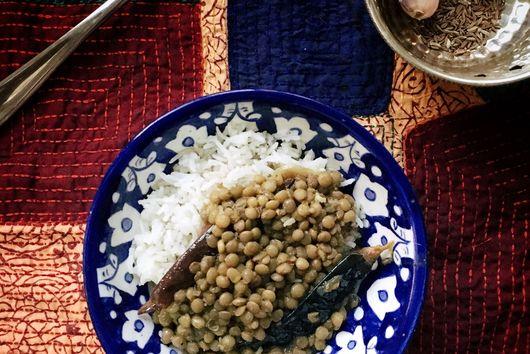Punjabi Green Lentils
