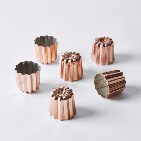 de Buyer Copper Canelé Mold, Set of 6
