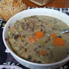Lentil, Mushroom and Chestnut Soup