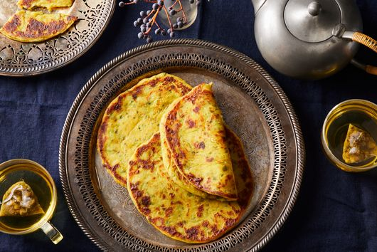 Spiced Winter Squash & Herb 'Tattie Scone' Parathas