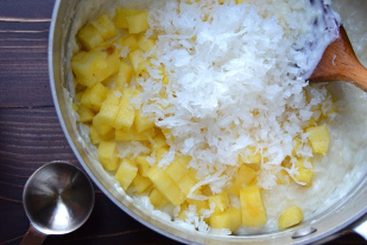 piña colada rice pudding