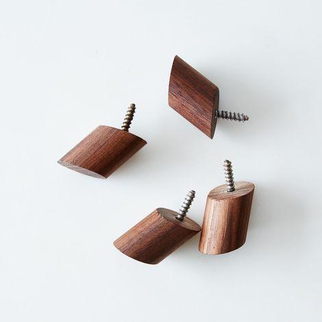 Round Wall Hooks (Set of 4)