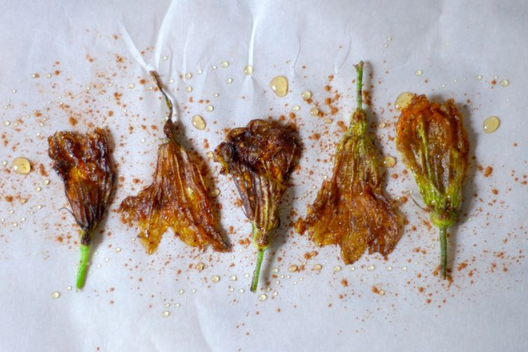 Cinnamon & Honey Fried Zucchini Blossoms