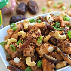 "Paleo Kung ""Power"" Chicken with Medjool Dates"