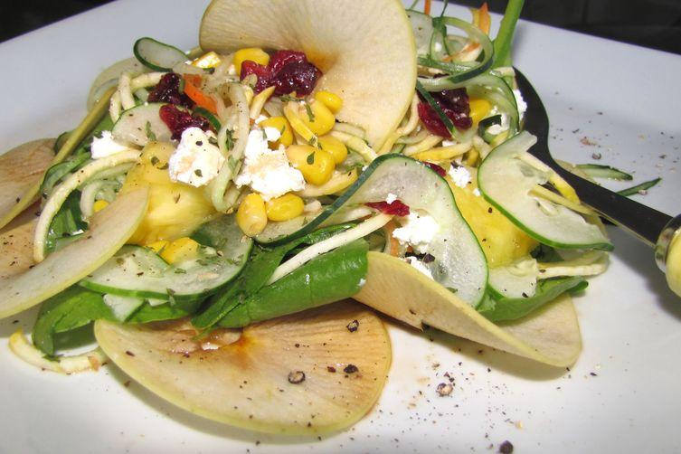 Spiral Squash and Zucchini Salad Explosion