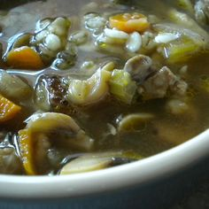 Old Fashioned Mushroom Barley Soup
