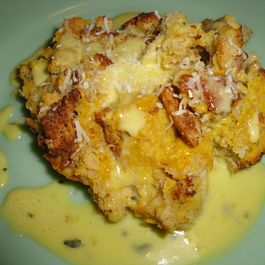 Butternut Bread Pudding, with Sage Hollandaise Sauce