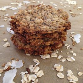 Vegan Oats & Flax Crisps with Coconut