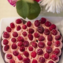 Beet chocolate cake with raspberry icing
