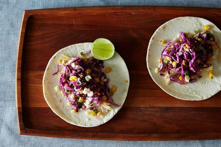 Tacos with Corn and Slaw on Food52
