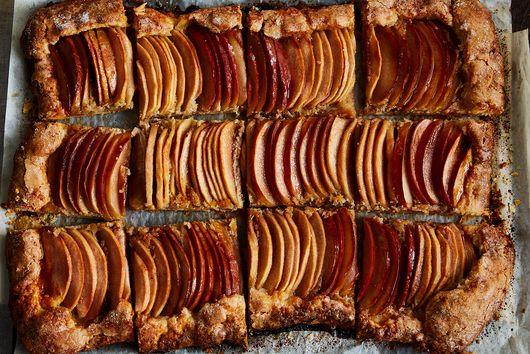 Apple Galette with Tahini Frangipane & Honey-Hibiscus Glaze