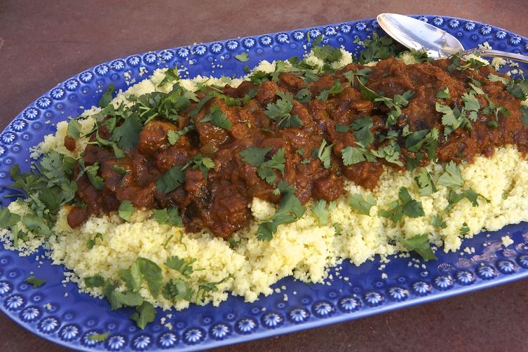 Lamb Tagine with Apricots and Prunes
