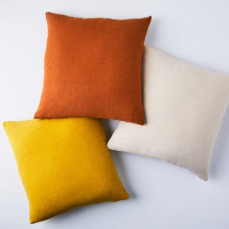 "Stonewashed Linen Pillow, 18"" x 18"""