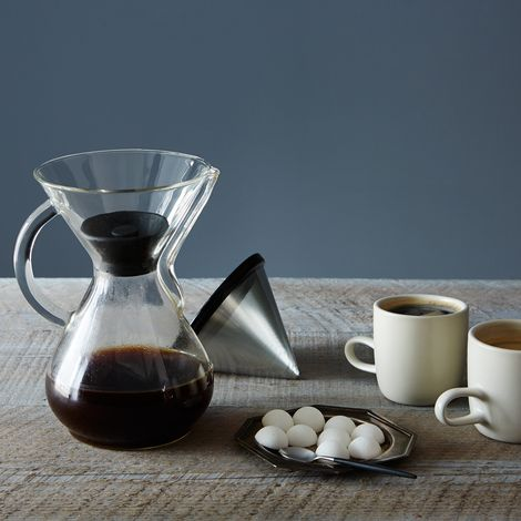 KONE Coffee Filter with Heat Lid for Chemex