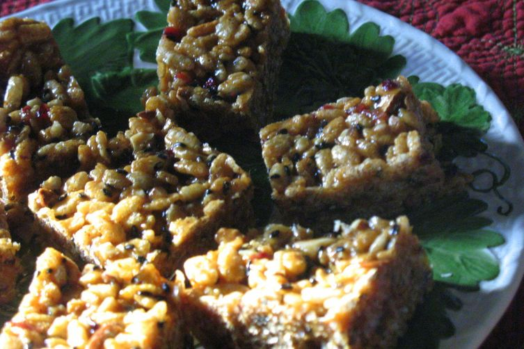 Maple Almond Butter Krisped Rice Treats