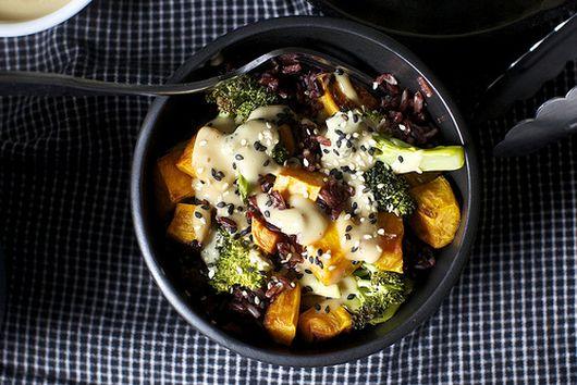 Miso, Sweet Potato, and Broccoli Bowl