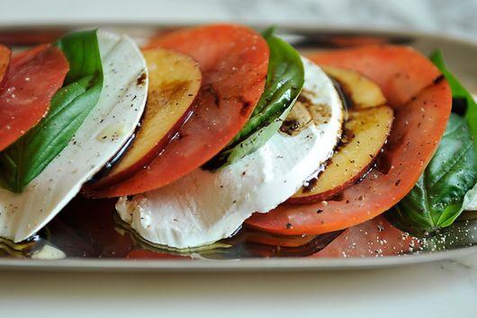 Tomato, Nectarine, and Mozzarella Salad