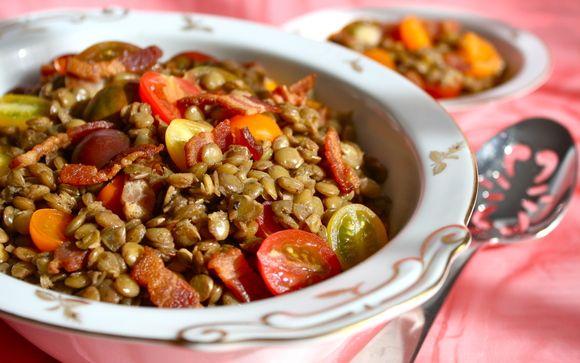 The BLT Salad: Bacon, Lentil & Tomato