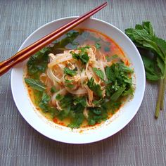 Thai Red Curry Chicken Soup