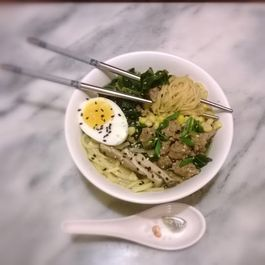 Pork sausage and Collard green Ramen