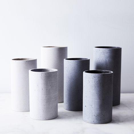 Modern Concrete-Inspired Vase