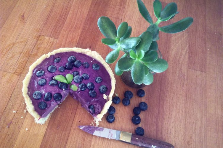Blueberry Cardamom Mousse or Pie