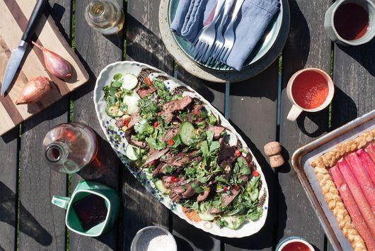 Isaan Style Steak Salad (Nuea Naam Tok)