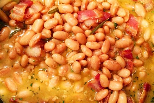 Beans in Cheesy-Lemon Broth