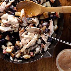 Skillet Potatoes with Smoked Fish and Smoked Paprika Aioli