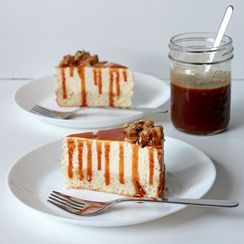 Salted caramel cream cake