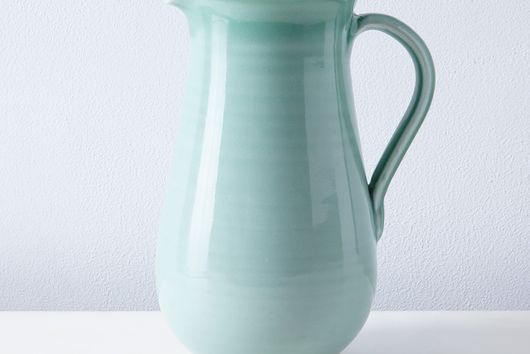 Summer Green Porcelain Pitcher
