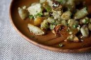 Roasted Sunchokes with Hazelnut Gremolata