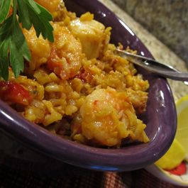 Chicken Sausage and Seafood Paella